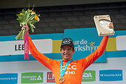 Greg Van Avermaet of CCC Pro Team on podium for stage winner during stage four of the Tour de Yorkshire from Halifax to Leeds, , United Kingdom on 4 May 2019.