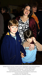 ESTHER FREUD and her children ANNA MORRISSEY and ALBIE MORRISSEY, at an exhibition in London on 30th March 2004.PSZ 44