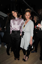Left to right, BELLA FREUD and EMILIA FOX at the 2nd Rodial Beautiful Awards in aid of the Hoping Foundation held at The Sanderson Hotel, 50 Berners Street, London on 1st February 2011.