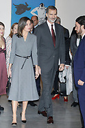 120318 Spanish Royals attends the Opening the exhibition 'Poetics of democracy'