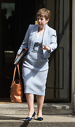 Downing Street, London, May 17th 2016. Leader of the House of Lords, Baroness Tina Stowell leaves the weekly cabinet meeting in Downing Street.