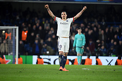 09.03.2016, Stamford Bridge, London, ENG, UEFA CL, FC Chelsea vs Paris Saint Germain, Achtelfinale, Rueckspiel, im Bild ibrahimovic zlatan // during the UEFA Champions League Round of 16, 2nd Leg match between FC Chelsea vs Paris Saint Germain at the Stamford Bridge in London, Great Britain on 2016/03/09. EXPA Pictures © 2016, PhotoCredit: EXPA/ Pressesports/ LAHALLE PIERRE<br /> <br /> *****ATTENTION - for AUT, SLO, CRO, SRB, BIH, MAZ, POL only*****