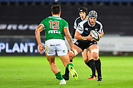 Dan Lydiate of Ospreys in action during todays match<br /> <br /> Photographer Craig Thomas/Replay Images<br /> <br /> Guinness PRO14 Round 4 - Ospreys v Benetton Treviso - Saturday 22nd September 2018 - Liberty Stadium - Swansea<br /> <br /> World Copyright &copy; Replay Images . All rights reserved. info@replayimages.co.uk - http://replayimages.co.uk