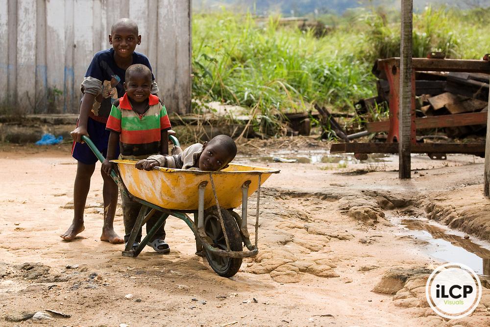 Gabonese children, Lope National Park, Gabon