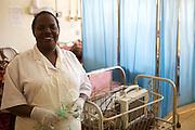 A nurse on the special care ward in Mulago hospital, Uganda