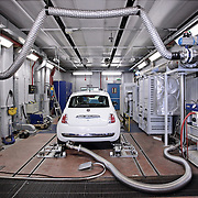 Test emissioni gas di scarico al Centro Ricerche Fiat di Orbassano (TO)<br />