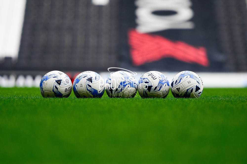 Rochdale FC Mitre footballs during the EFL Sky Bet League 1 match between Milton Keynes Dons and Rochdale at stadium:mk, Milton Keynes, England on 11 March 2017. Photo by Dennis Goodwin.