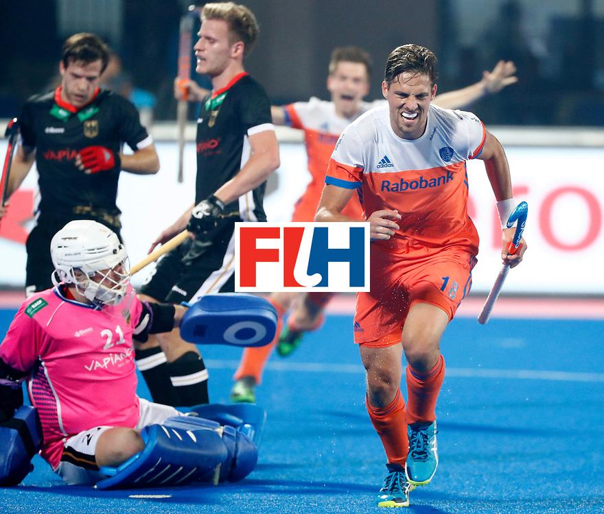 Odisha Men's Hockey World League Final Bhubaneswar 2017<br /> Match id:16<br /> Germany v Netherlands<br /> Foto: Bjorn Kellerman (Ned) scored 1-2<br /> COPYRIGHT WORLDSPORTPICS KOEN SUYK