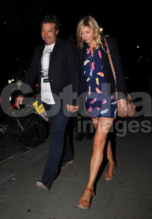 john torode and girlfriend lisa faulkner leaving the scott. Black Bedroom Furniture Sets. Home Design Ideas