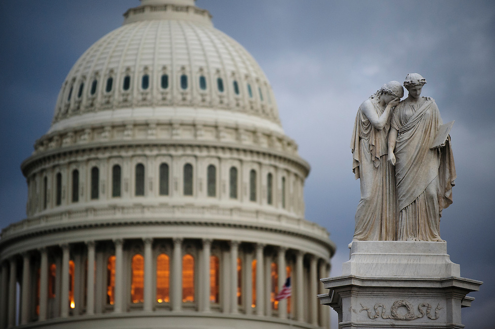 The U.S. Capitol in Washington, District of Columbia, U.S., on Thursday, Feb. 28, 2013,  one day left before $85 billion in automatic across the board spending cuts start to take effect if no deal is struck before midnight on Friday. Photographer: Pete Marovich/Bloomberg