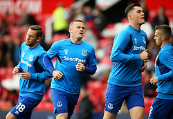 Former Manchester United players Wayne Rooney, Michael Keane and Morgan Schneiderlin warm up on their return to Old Trafford - Mandatory by-line: Matt McNulty/JMP - 17/09/2017 - FOOTBALL - Old Trafford - Manchester, England - Manchester United v Everton - Premier League