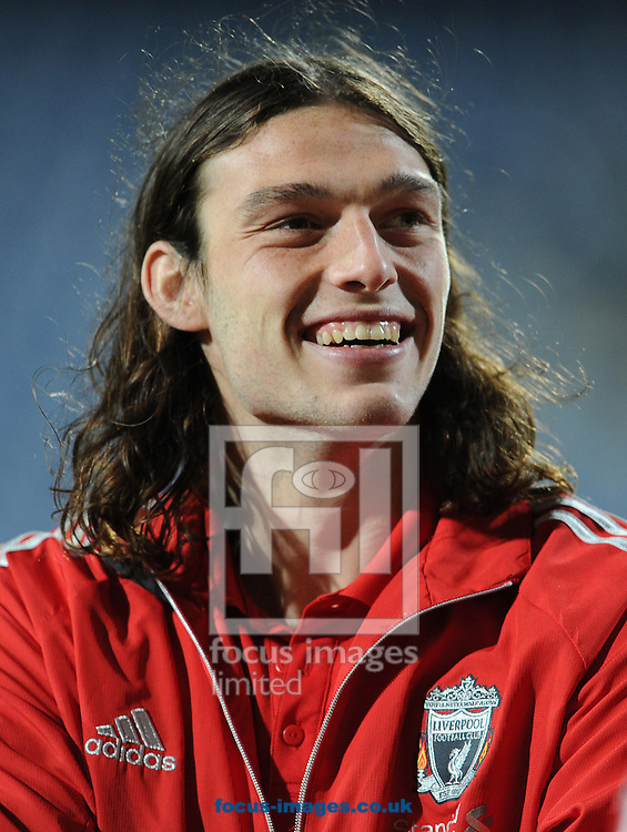 Picture by Andrew Timms/Focus Images Ltd. 07917 236526.21/03/12.Andy Carroll of Liverpool prior to the Barclays Premier League match against Queens Park Rangers at Loftus Road stadium, London.
