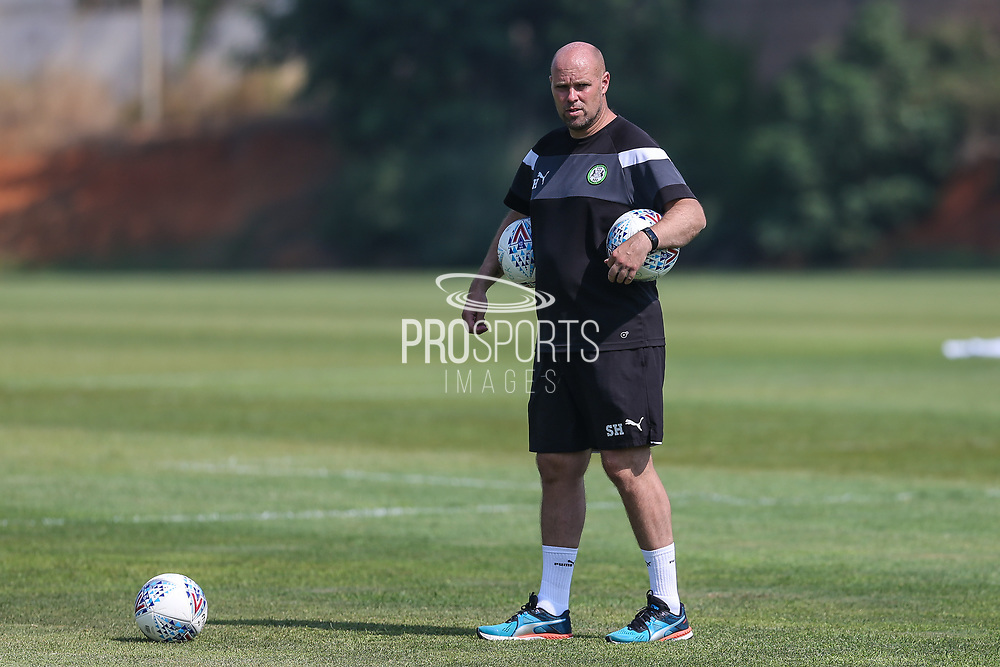 Forest Green Rovers goalkeeping coach Steve Hale during the Forest Green Rovers Training session at Browns Sport and Leisure Club, Vilamoura, Portugal on 25 July 2017. Photo by Shane Healey.