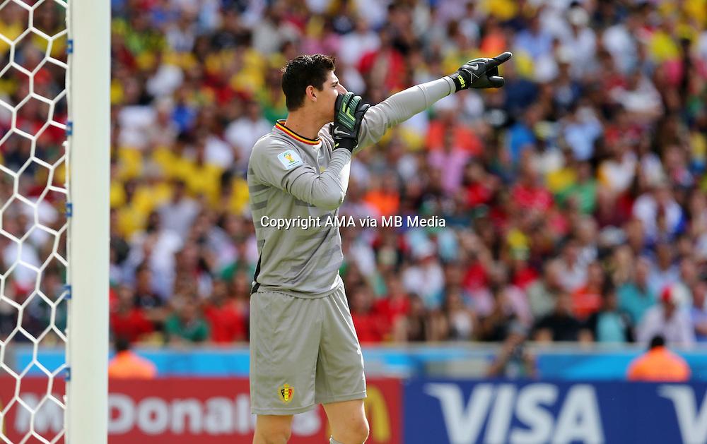 Belgium goalkeeper Thibaut Courtois