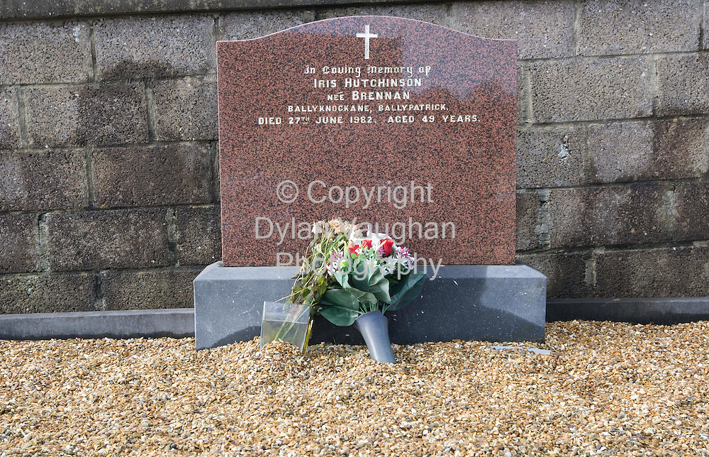 17/1/2007.The grave of Iris Hutchinson at Kilcash in County Tipperary..Picture Dylan Vaughan.