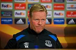 LIVERPOOL, ENGLAND - Wednesday, October 18, 2017: Everton's manager Ronald Koeman during a press conference at Finch Farm ahead of the UEFA Europa League Group E match against Olympique Lyonnais. (Pic by David Rawcliffe/Propaganda)