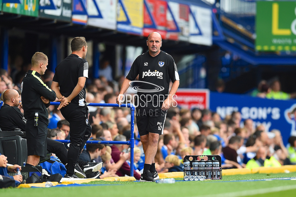 Portsmouth manager Paul Cook  during the EFL Sky Bet League 2 match between Portsmouth and Barnet at Fratton Park, Portsmouth, England on 24 September 2016. Photo by Ian  Muir. during the EFL Sky Bet League 2 match between Portsmouth and Barnet at Fratton Park, Portsmouth, England on 24 September 2016. Photo by Ian  Muir.