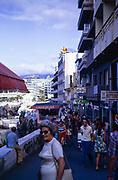 Puerto de la Cruz holiday resort, Tenerife, Canary Islands, Spain, 1974