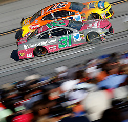 October 14, 2018 - Talladega, AL, U.S. - TALLADEGA, AL - OCTOBER 14: #31: Ryan Newman, Richard Childress Racing, Chevrolet Camaro Liberty National, #37: Chris Buescher, JTG Daugherty Racing, Chevrolet Camaro Bush's Chili Beans  during the runinng of the 1000Bulbs.com500 on Sunday October 14, 2018 at Talladega SuperSpeedway in Talladega Alabama (Photo by Jeff Robinson/Icon Sportswire) (Credit Image: © Jeff Robinson/Icon SMI via ZUMA Press)