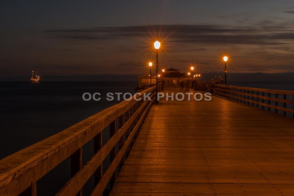 Seal Beach Pier at Night