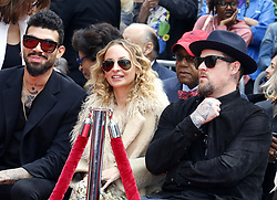 Nicole Richie, Benji Madden and Miles Richie at Lionel Richie Hand And Footprint Ceremony held at the TCL Chinese Theatre in Hollywood, USA on March 7, 2018.