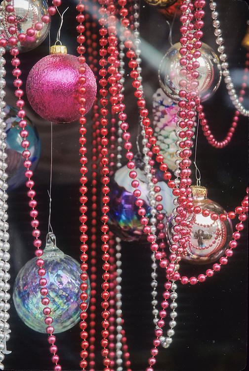 Washington, Bellevue, Christmas ornaments and beads