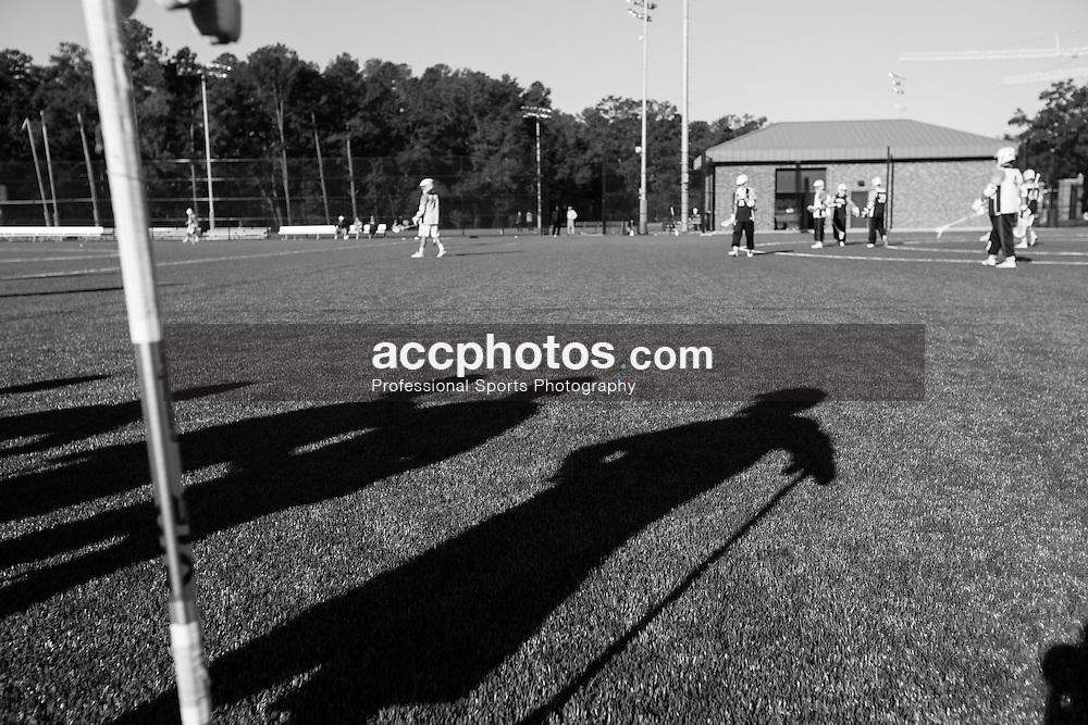 2015 October 15: Duke Blue Devils lacrosse practice at Duke University in Durham, NC.
