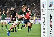 RWC2019 New Zealand vs South Africa at International Stadium Yokohama.Pieter-Steph DU TOIT scores a try for South Africa
