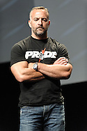 LAS VEGAS, NEVADA, JULY 10, 2009: UFC CEO Lorenzo Fertitta is pictured on stage during the first UFC Fan Expo inside the Mandalay Bay Convention Centre in Las Vegas, Nevada