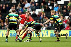 Schalk Burger of Saracens is tackled - Mandatory by-line: Robbie Stephenson/JMP - 16/04/2017 - RUGBY - StadiumMK - Milton Keynes, England - Northampton Saints v Saracens - Aviva Premiership