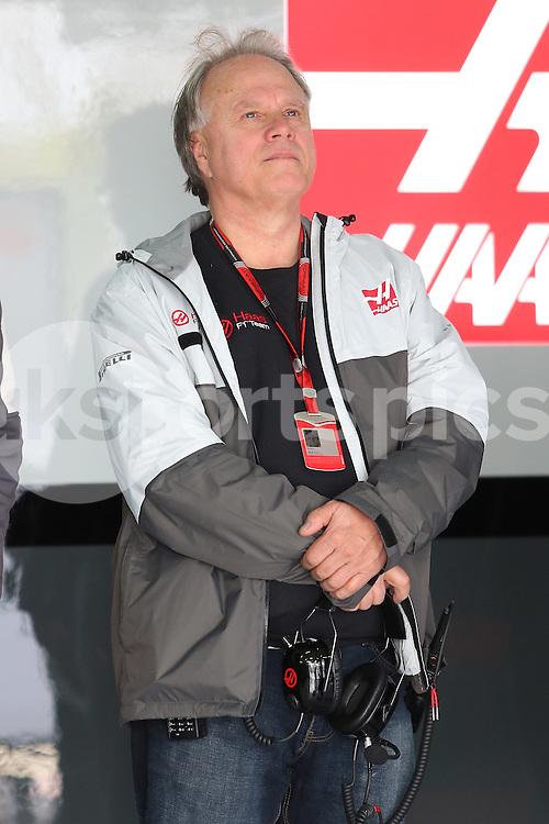Gene Hass during the Formula 1 Pre Season Testing 2016 at  at Circuit de Barcelona-Catalunya, Barcelona, Spain on 23 February 2016. Photo by sync studio.