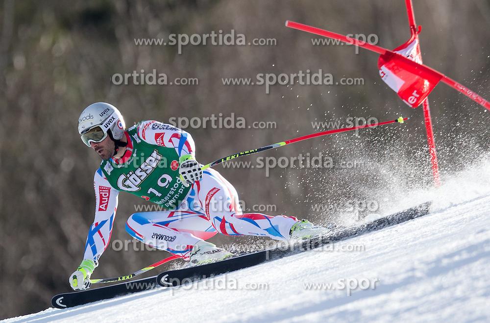 27.02.2016, Hannes Trinkl Rennstrecke, Hinterstoder, AUT, FIS Weltcup Ski Alpin, Hinterstoder, Super G, Herren, im Bild Adrien Theaux (FRA) // Adrien Theaux of France competes during his run of men's Super G of Hinterstoder FIS Ski Alpine World Cup at the Hannes Trinkl Rennstrecke in Hinterstoder, Austria on 2016/02/27. EXPA Pictures © 2016, PhotoCredit: EXPA/ Johann Groder