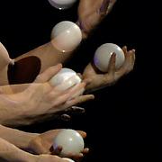26.02.2016 Cirque Du Soleil performing AMALUNA at The Royal Albert Hall London UK Juggling Viktor Kee
