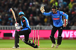 Worcestershire Rapids' Joe Clarke is caught behind by Sussex Sharks' Michael Burgess during the Vitality T20 Blast Final on Finals Day at Edgbaston, Birmingham.
