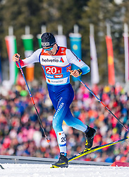 24.02.2019, Langlauf Arena, Seefeld, AUT, FIS Weltmeisterschaften Ski Nordisch, Seefeld 2019, Langlauf, Herren, Teambewerb, im Bild Ueli Schnider (SUI) // Ueli Schnider of Switzerland during the men's cross country team competition of FIS Nordic Ski World Championships 2019 at the Langlauf Arena in Seefeld, Austria on 2019/02/24. EXPA Pictures © 2019, PhotoCredit: EXPA/ Stefan Adelsberger
