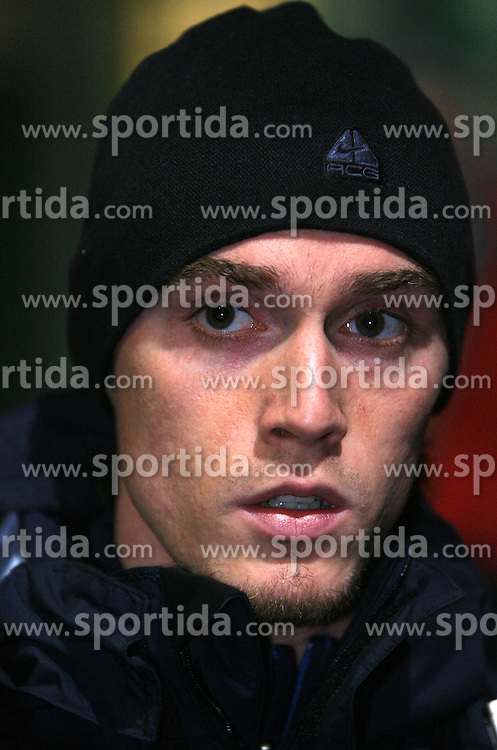 Ales Mejac of Slovenia after  the 8th day qualification game of 2010 FIFA WORLD CUP SOUTH AFRICA in Group 3 between Slovenia and Czech Republic at Stadion Ljudski vrt, on March 28, 2008, in Maribor, Slovenia. Slovenia vs Czech Republic 0 : 0. (Photo by Vid Ponikvar / Sportida)
