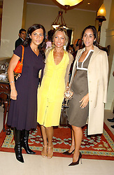 Left to right, ELLA KRASNER, RENEE TAUBI and ESTEFANIA RENAUD at the CLIC Sargent's Yumy Mummy lunch held at The Lanesborough Hotel, Hyde Park Corner, London on 20th September 2005.<br />