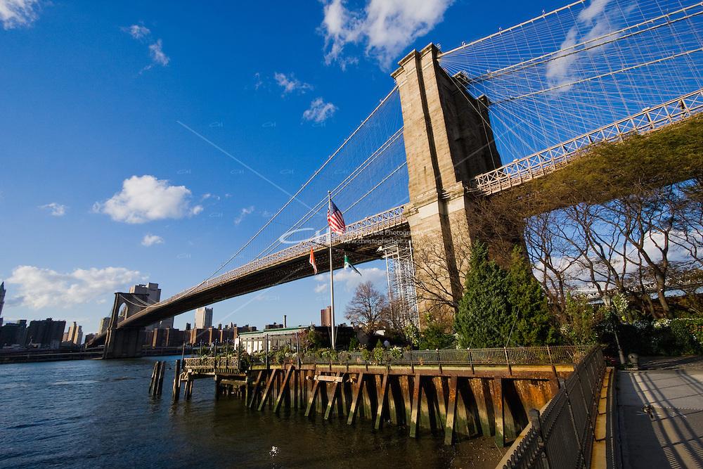 Brooklyn Bridge seen from Dumbo New York October 2008