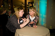 LISA MILTON; KATE MOSSE, Orion Publishing Group Author Party. V & A. London. 18 February 2009.  *** Local Caption *** -DO NOT ARCHIVE -Copyright Photograph by Dafydd Jones. 248 Clapham Rd. London SW9 0PZ. Tel 0207 820 0771. www.dafjones.com<br /> LISA MILTON; KATE MOSSE, Orion Publishing Group Author Party. V & A. London. 18 February 2009.