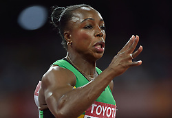 26-08-2015 CHN: IAAF World Championships Athletics day 5, Beijing<br /> Veronica Campbell Brown (JAM) at 200m Women<br /> Photo by Ronald Hoogendoorn / Sportida