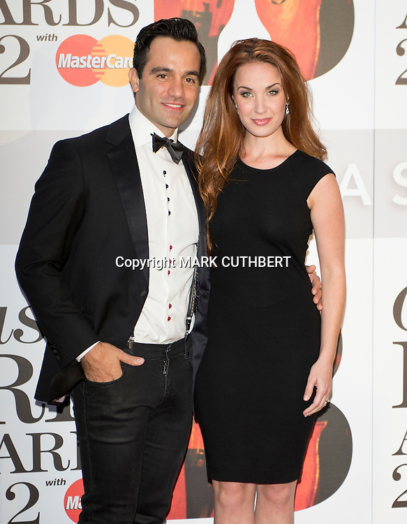 Ramin Karimloo and Sierra Boggess arriving at the 2012 Classic Brit Awards at the Royal Albert Hall in London.