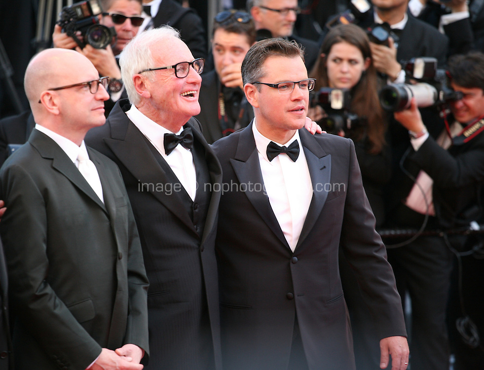 Steven Soderbergh, Jerry Weintraub and Matt Damon at the 'Behind The Candelabra' gala screening at the Cannes Film Festival  Tuesday 21 May 2013