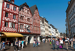 Old half timbered houses in central Trier Rhineland-Palatinate,Germany