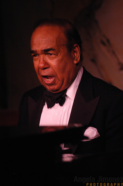 Pianist/singer Bobby Short opens his 35th performance season at the Cafe Carlyle, at The Carlyle Hotel in Manhattan on May 6, 2003.