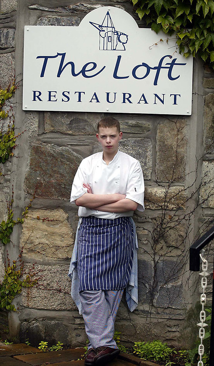 Daniel Richardson,16 year old Head Chef of The Loft restaraunt in Blair Atholl, Perthsire <br />