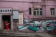 Street art in Shueng Wan off Hollywood Road, Hong Kong