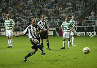 Photo: Andrew Unwin.<br /> Newcastle United v Glasgow Celtic. Alan Shearer Testimonial. 11/05/2006.<br /> Newcastle's Alan Shearer scores his team's winning goal.