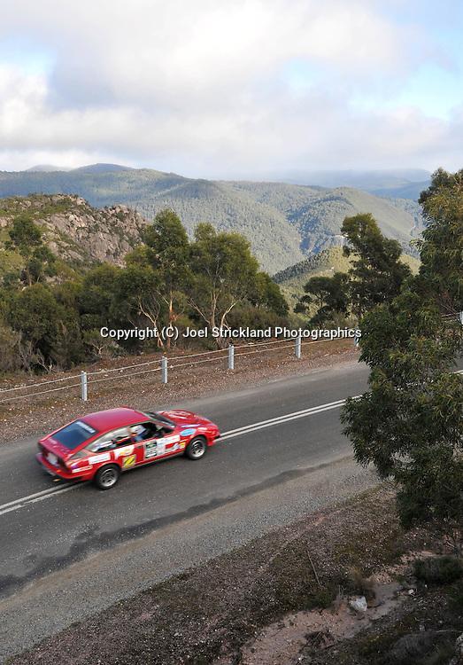 David Elphick & Ron Shepherd .1981 Alfa Romeo Alfetta GTV.Day 4.Targa Tasmania 2009.2nd of May 2009.(C) Joel Strickland Photographics.