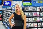 Tifanie Van Laar, Music buyer for Walmart at the Music section of Store 100 in Bentonville, Arkansas..Shot for Billboard Magazine