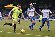 Peterborough United Forward, Paul Taylor (10), Bury Forward, Hallam Hope (24) and Bury Defender, Greg Leigh (3) during the EFL Sky Bet League 1 match between Bury and Peterborough United at the JD Stadium, Bury, England on 14 January 2017. Photo by Mark Pollitt.